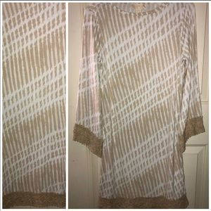 NWOT MICHAEL KORS SMALL CHINO BEIGE SHIFT DRESS
